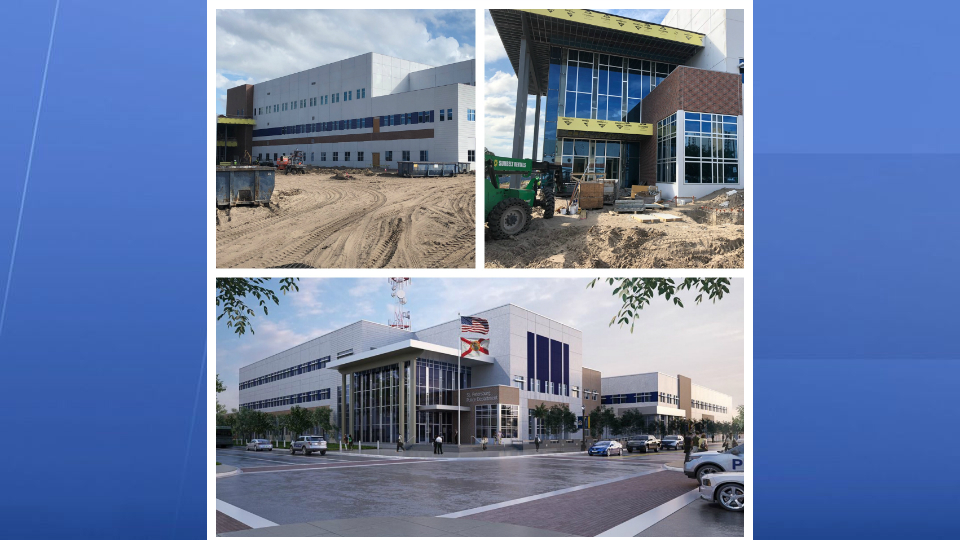 Construction Taking Shape on St  Pete Police Headquarters