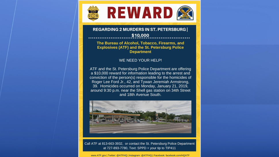 St  Pete Police Offering Reward For Info on Double Homicide