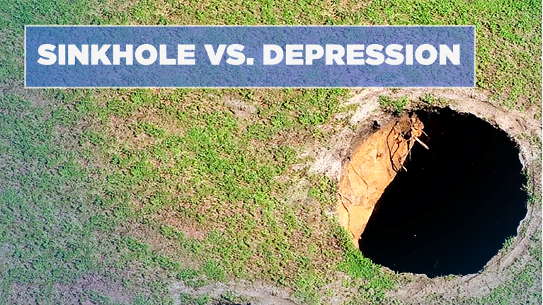 What\'s the Difference Between Depression, Sinkhole?