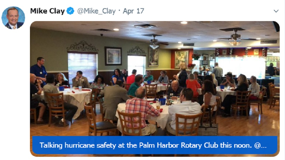 Mike Clay at Palm Harbor Rotary Club
