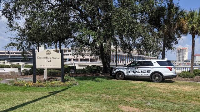 Tampa Police still guarding Christopher Columbus statue