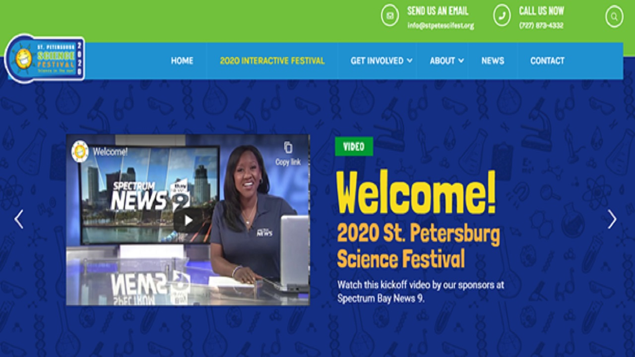 Erica Riggins introduced the St. Petersburg Science Festival