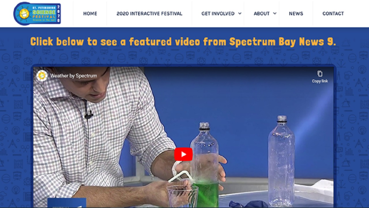 Nick Merianos did an experiment at the St. Petersburg Science Festival
