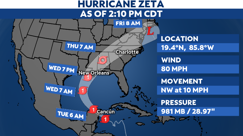 Zeta Becomes 11th Hurricane of Record-Breaking Atlantic Season