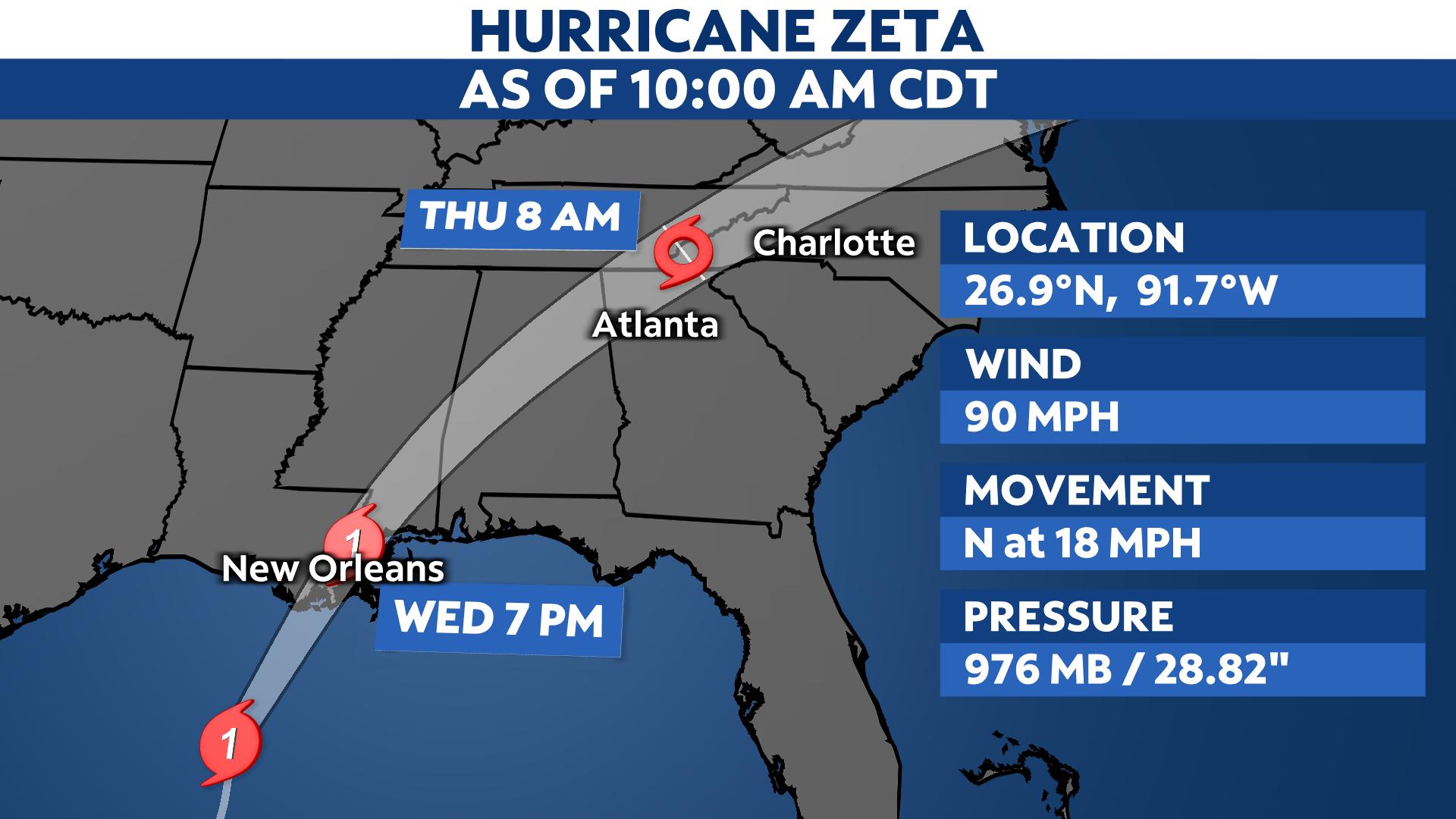 Hurricane Zeta Hours Away From Landfall