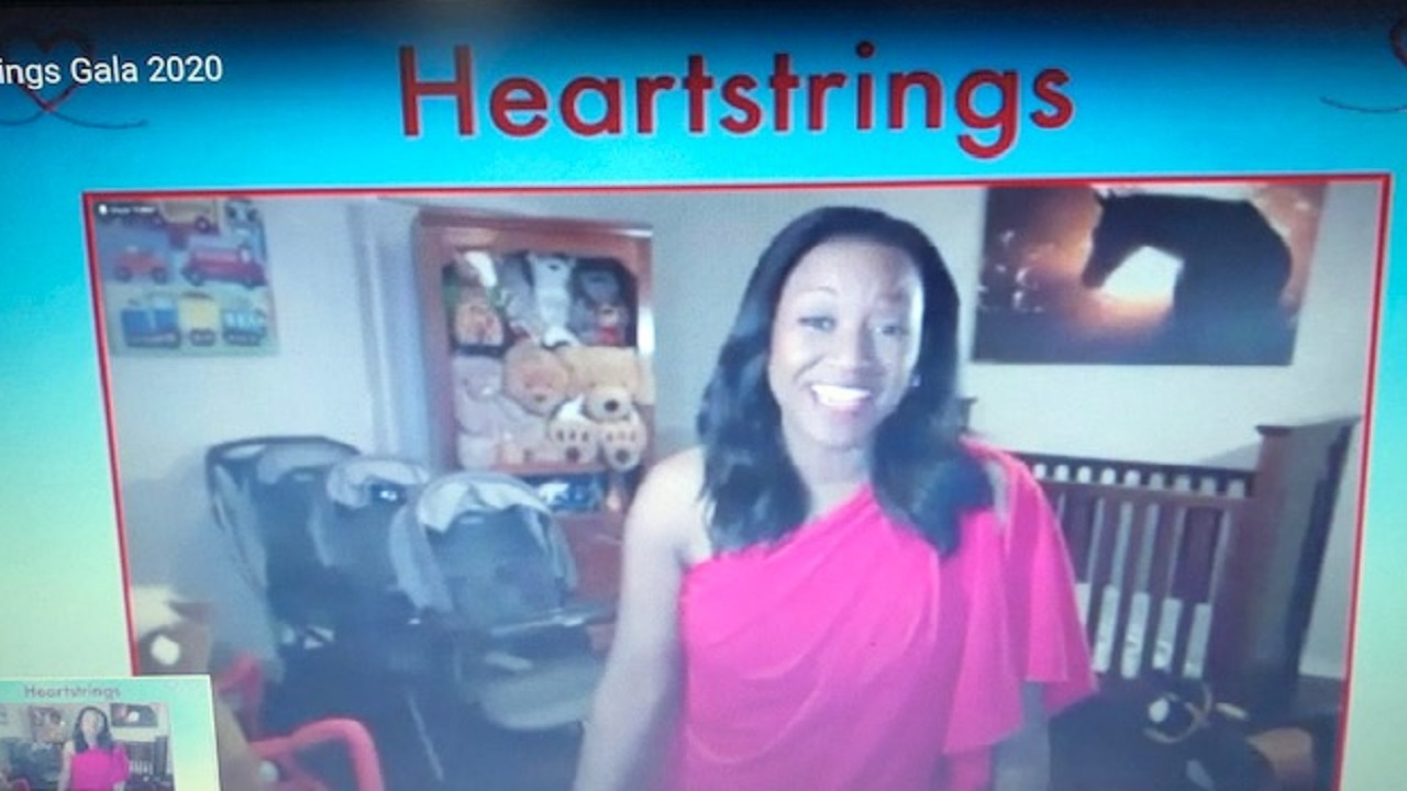 Erica Riggins with the Heart Gallery