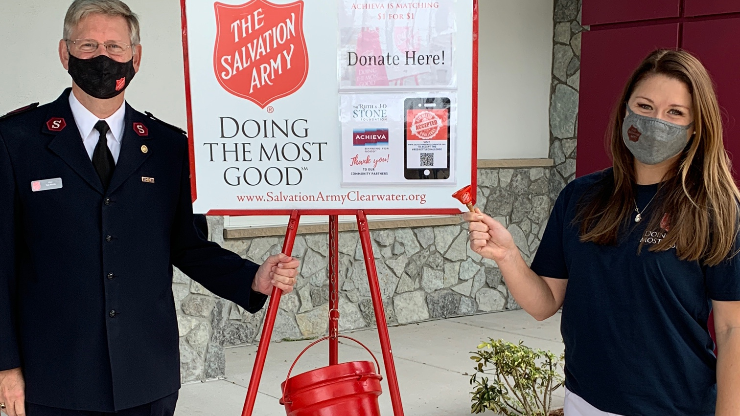 Weekend anchor Erin Murray was a bell ringer for the Salvation Army Red Kettle campaign sponsored by Achieva.  She was at the Achieva location in Palm Harbor.